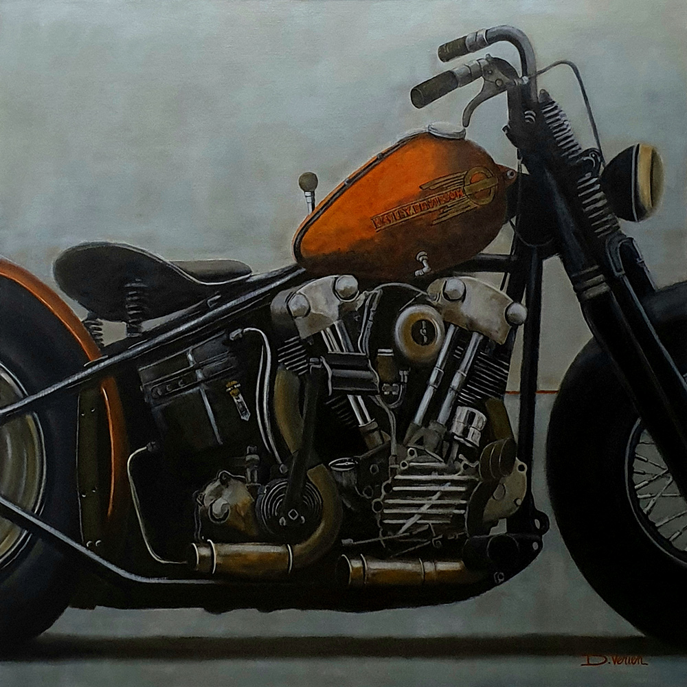 Harley Davidson Knucklehead 1938, 100x100