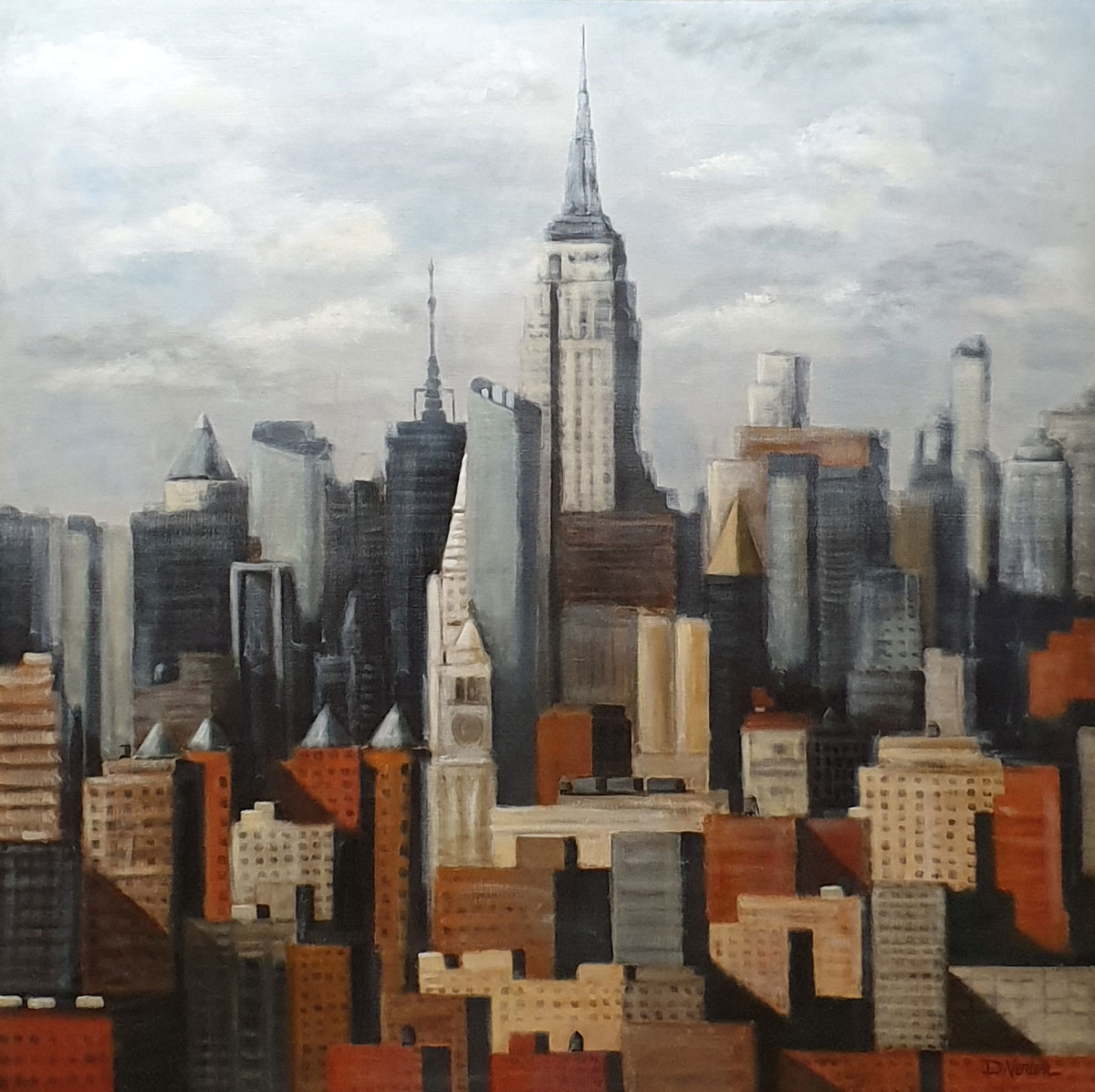 Empire State Building 2 New York 100x100