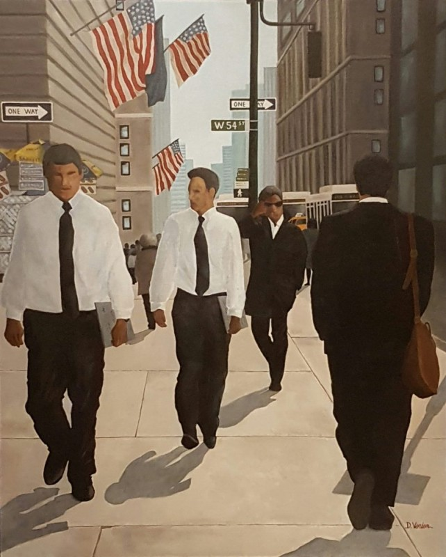 Businessmen New York 100x81