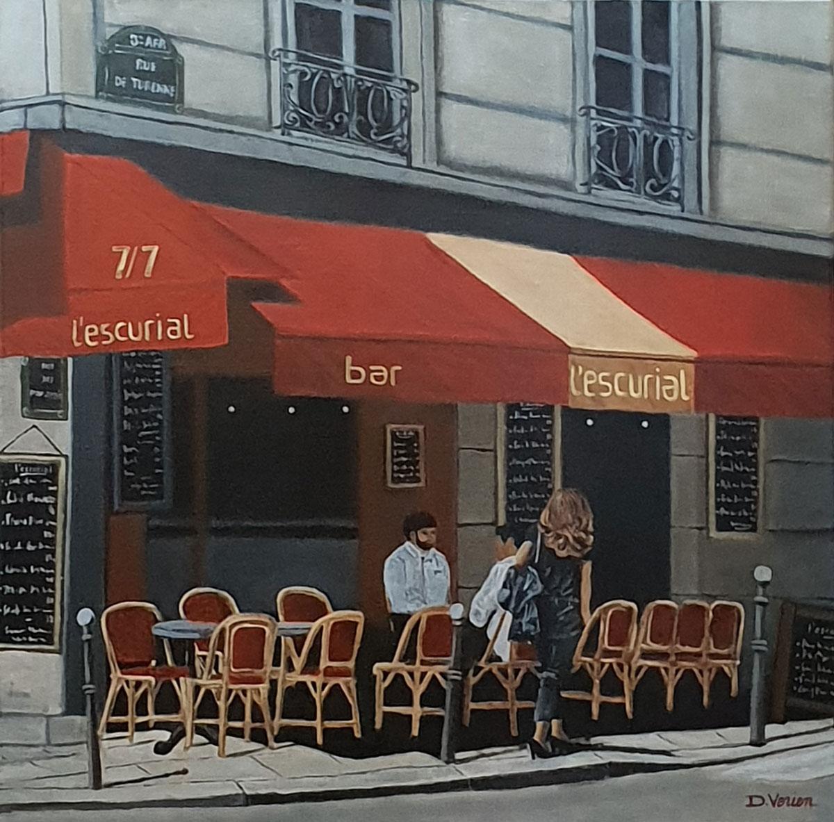 Paris rue de Turenne -60x60