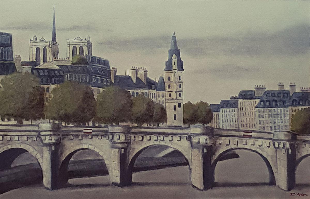 Pont Neuf et Notre Dame -92x60
