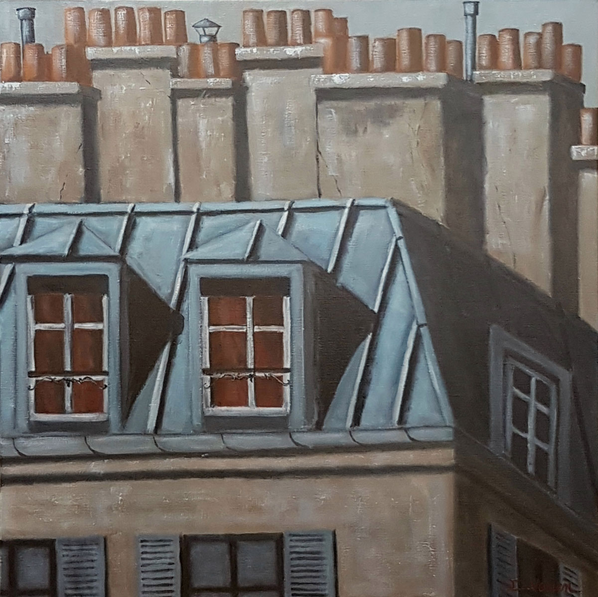 Toits 4 de Paris -60x60