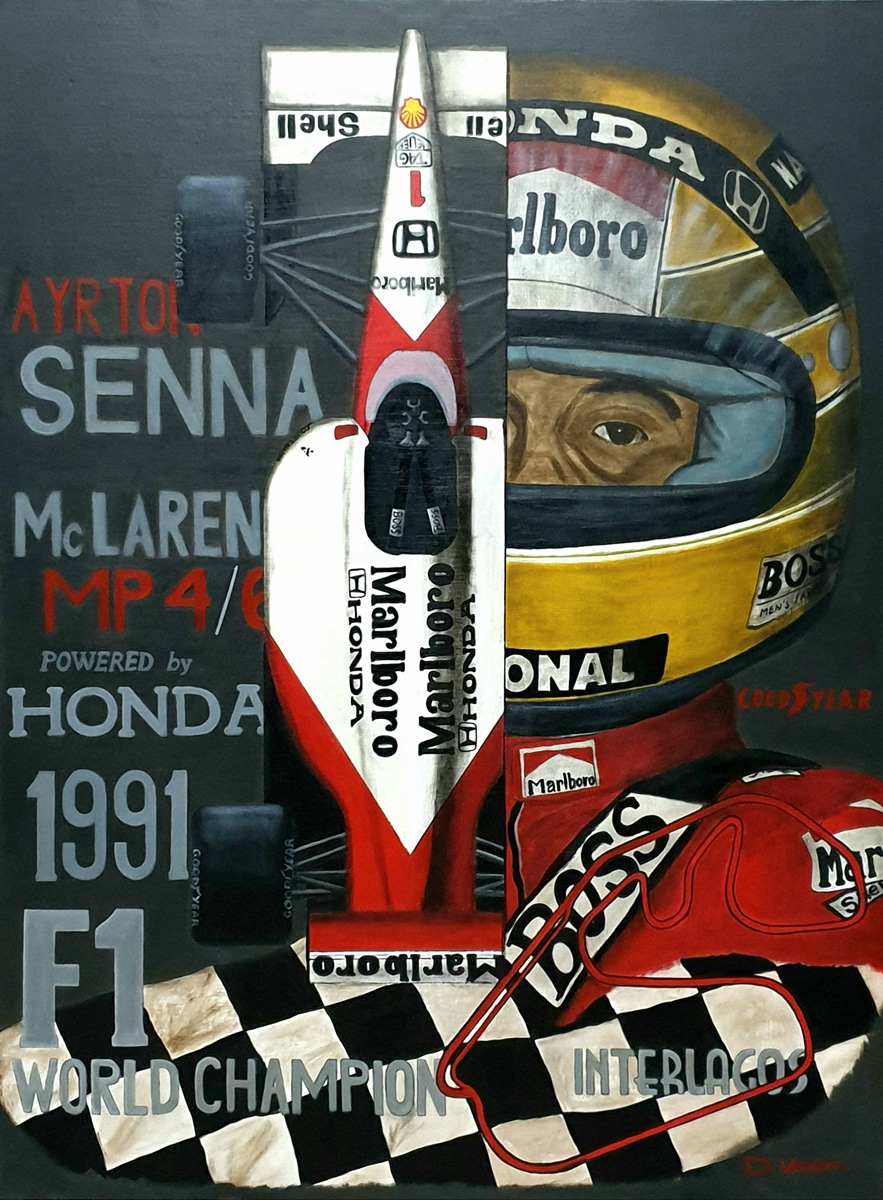 Ayrton Senna Mc Laren MP4