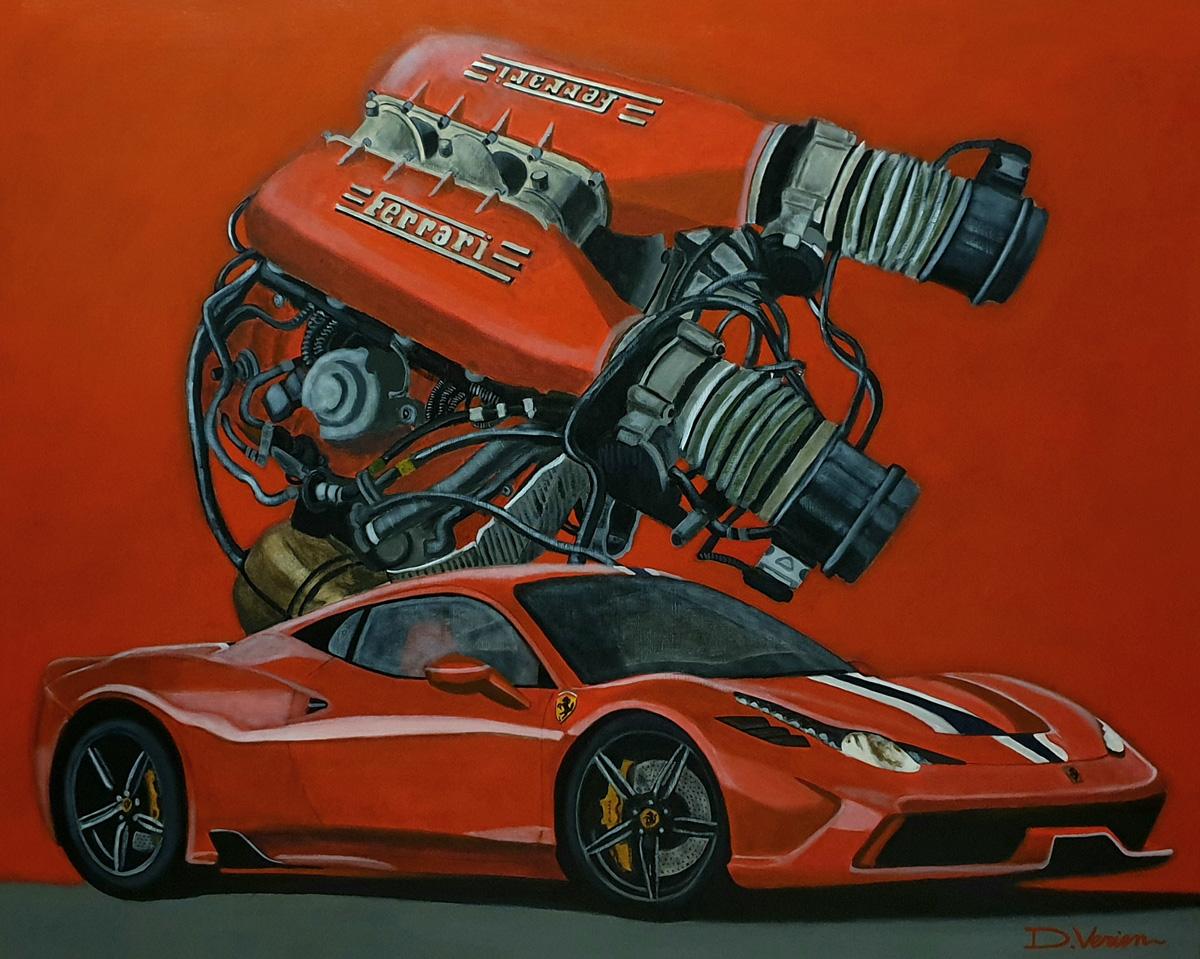 Ferrari 458 Italia moteur 458 V8 4.5l