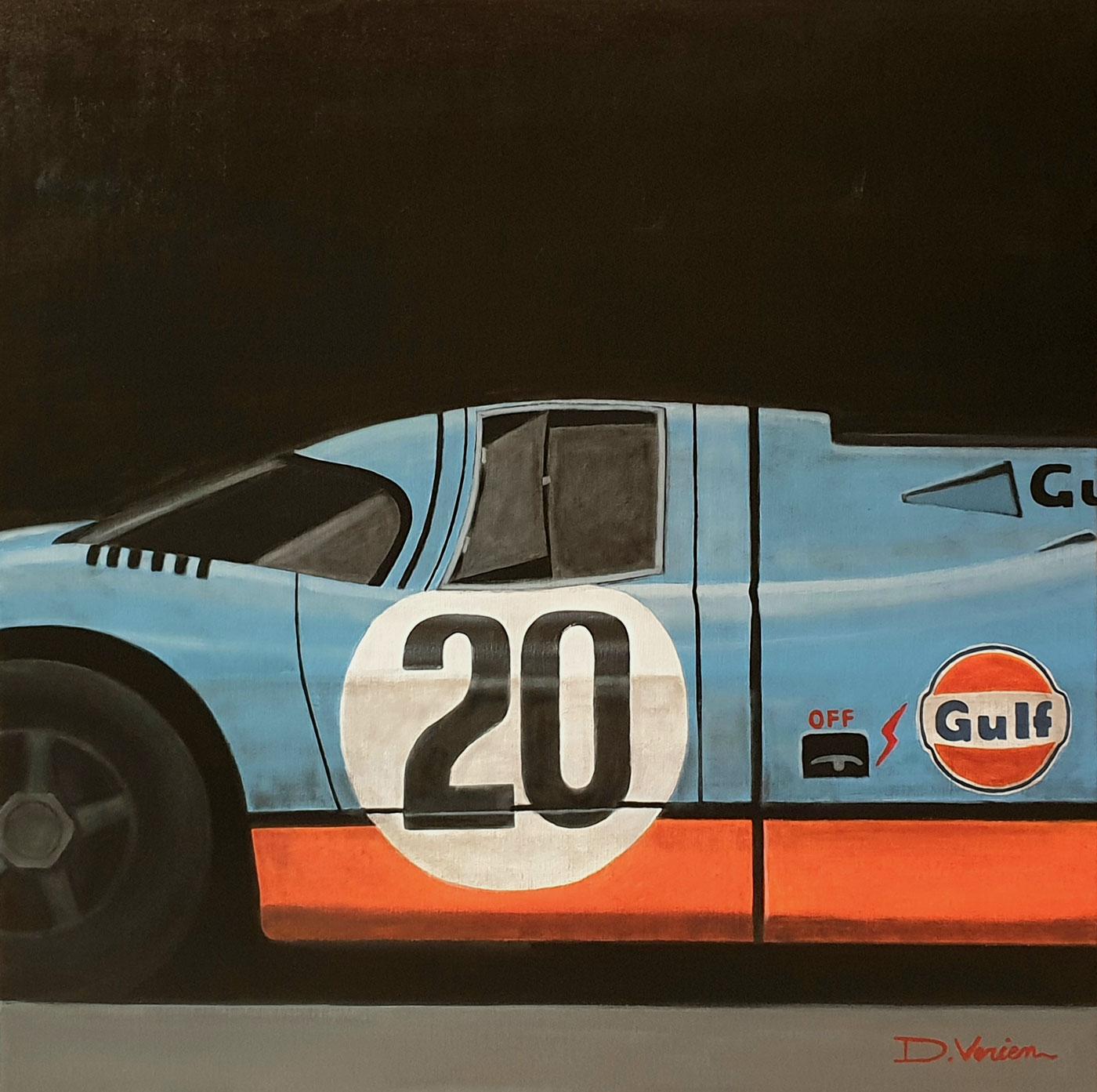 Porsche 917 GULF - 24H du mans - 1970,  80x80