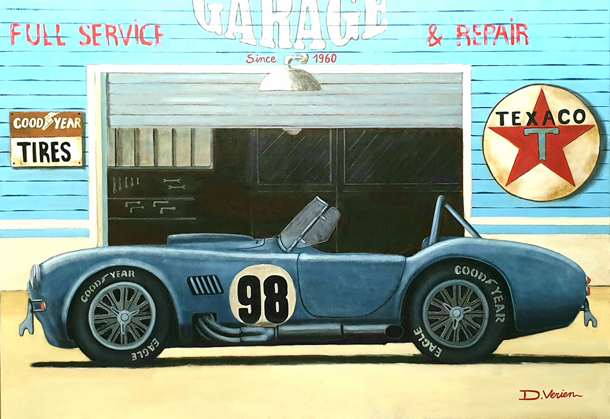 Cobra 427 Shelby garage texaco