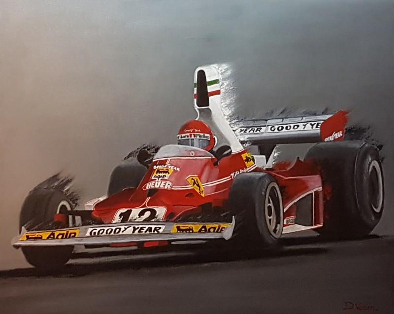 f1 Ferrari - Niki Lauda,100×81