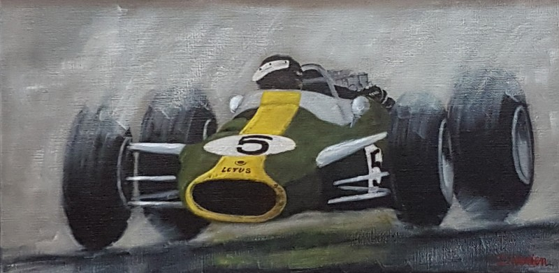 Jim Clark Lotus 1967, 60×30