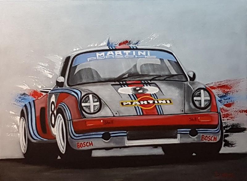 Porsche RSR martini racing,  73×54