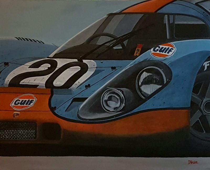 Porsche Gulf - le mans, 100×97