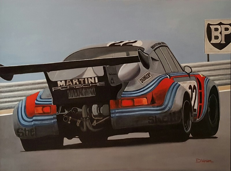 Porsche rsr turbo - le mans 1974, 130×97