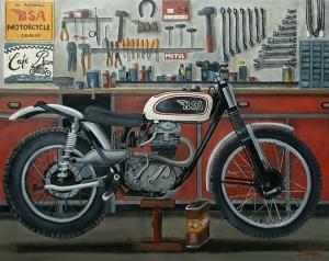 BSA B40 TRIAL 1963, 81x65