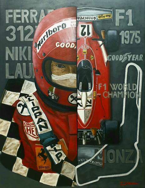 Niki Lauda Ferrari 312T 1975