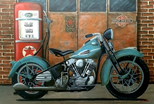 Harley Davidson Knucklehead 1940, 130x89