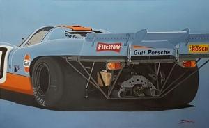 Porsche 917 Gulf  Vue arrière, 130×81