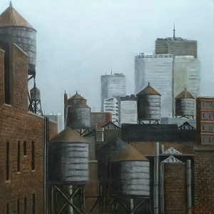 Water towers Brooklyn 80x80