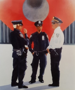 Cops Manathan New York 73x54