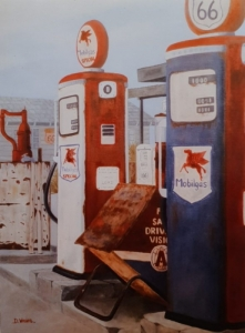 Gas station route 66 -73x54