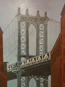 Manathan bridge New York 116x89