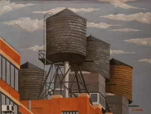Water towers Brookly 2  New York 92x73