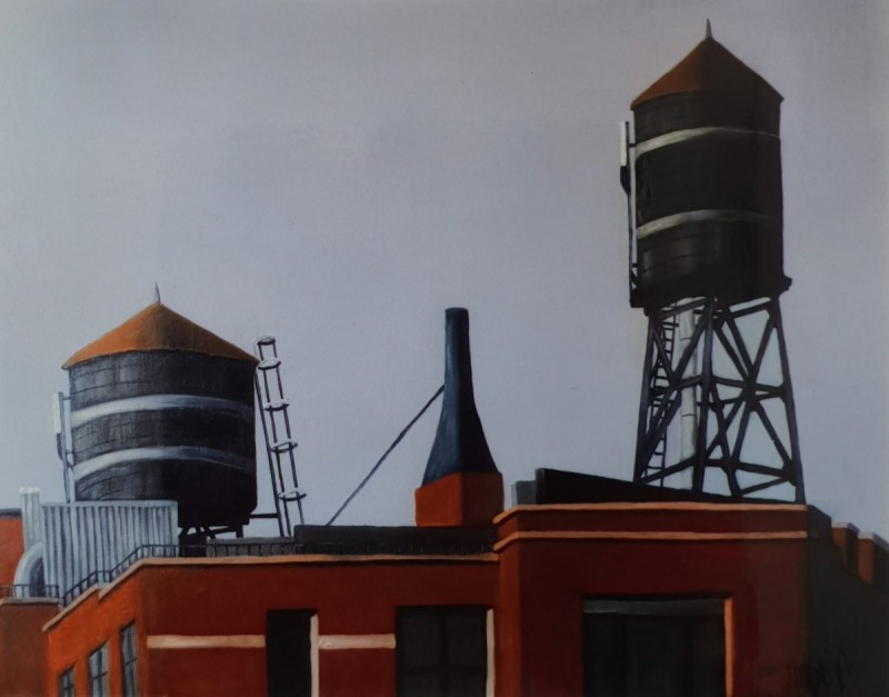 Water towers Brookly 1 New York 92x73