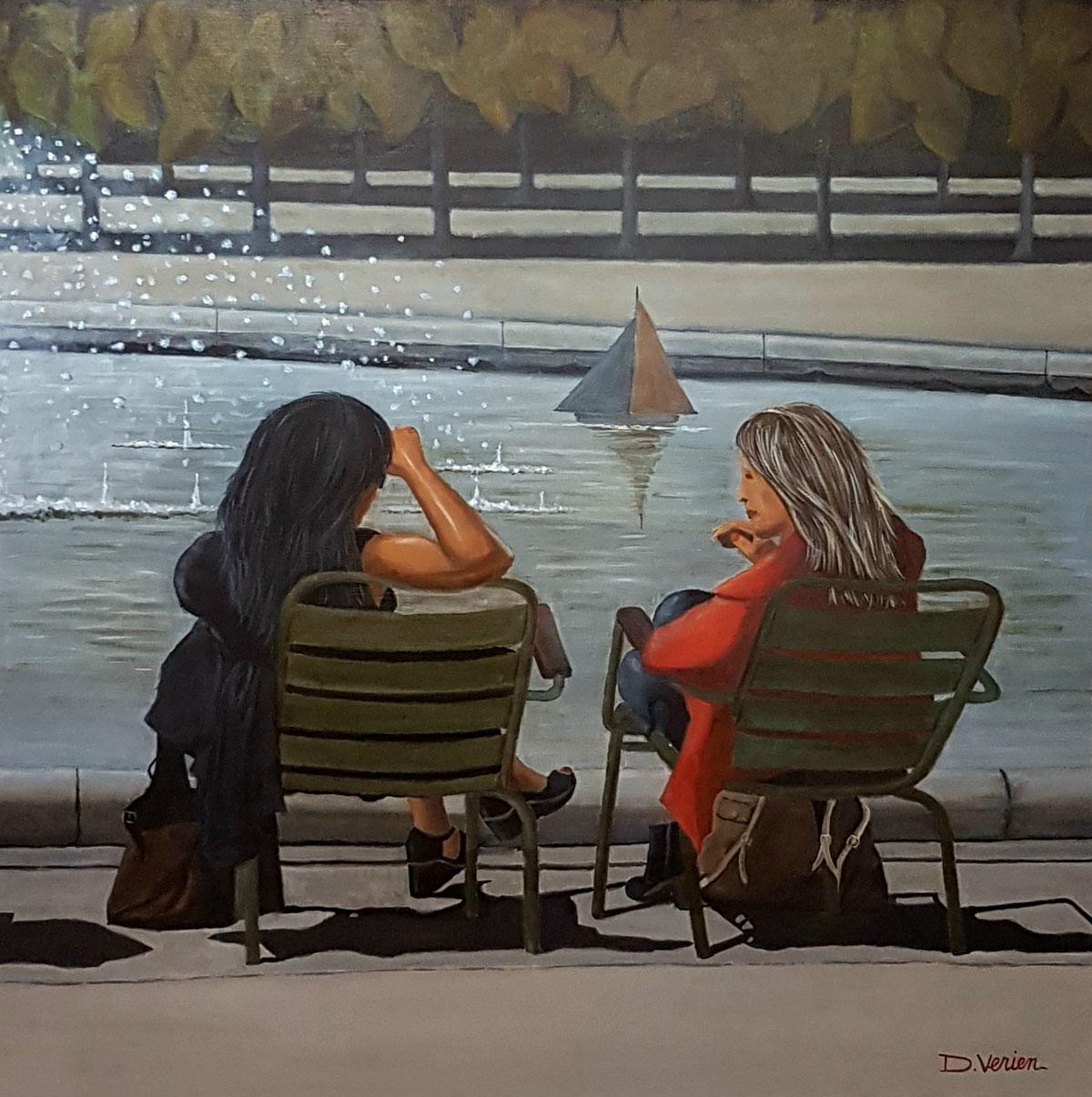 Le bassin des Tuileries -100x100