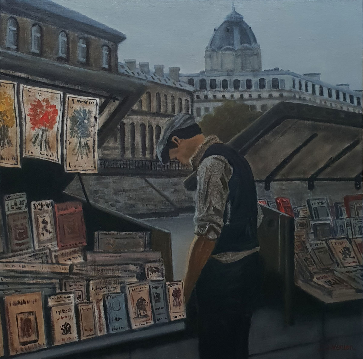 Le bouquiniste Paris -60x60
