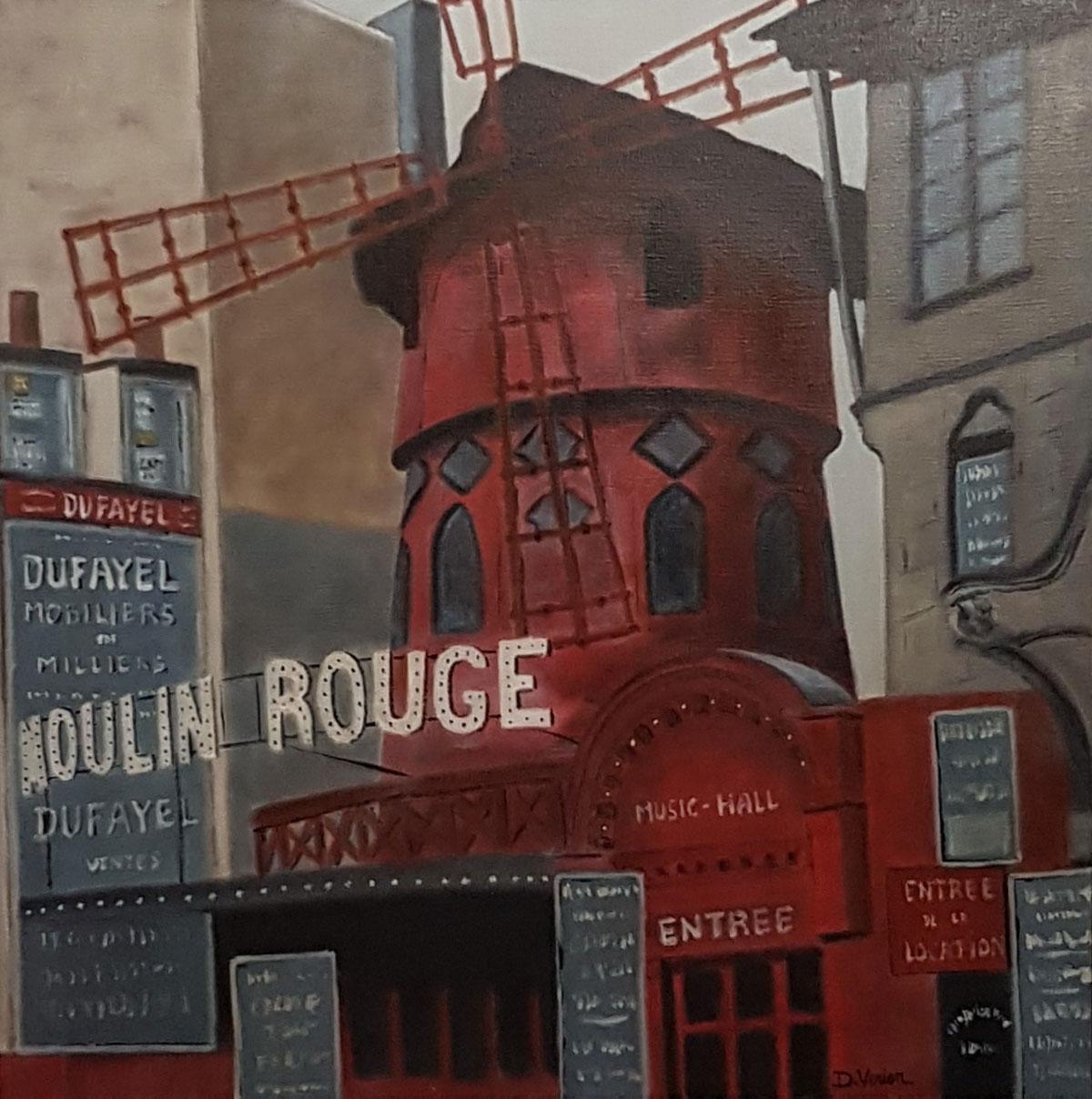 Le moulin rouge -60x60
