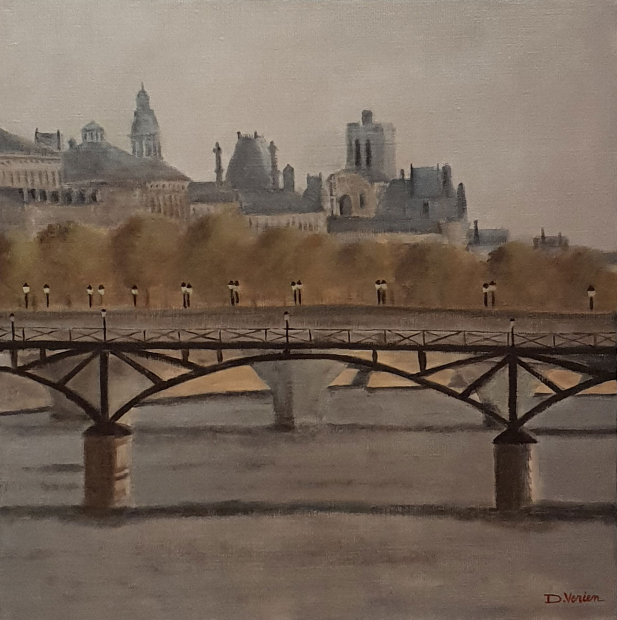 Pont des Arts Paris -40x40