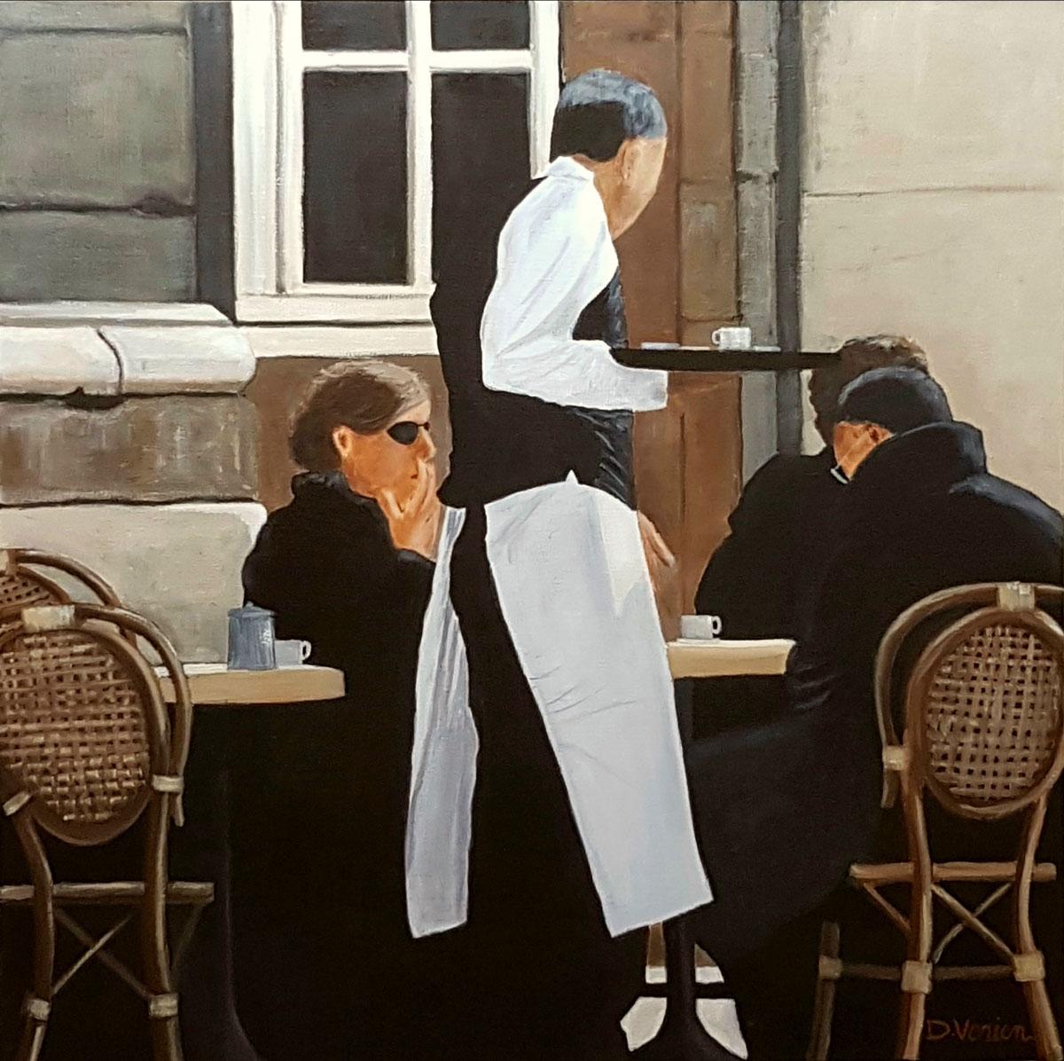 Terrasse parisienne -60x60