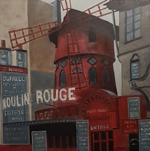 Le moulin rouge -60x60