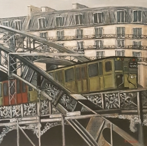 Metro aérien Paris 1960 -60x60