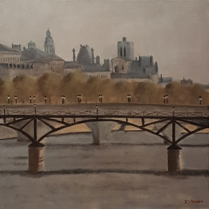 Pont des Arts Paris -40x40