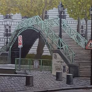 Pont sur le canal Saint Martin Paris -80x80
