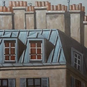 Toits 4 de Paris -60x60