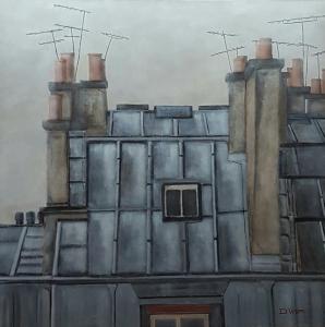 Toits 5 de Paris -100x100
