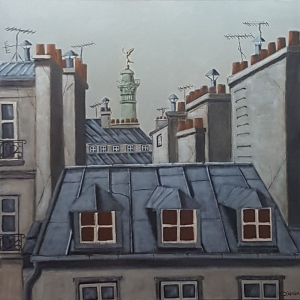 Toits de Paris Quartier Bastille -80x80